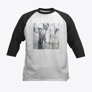 abstract chic white marble Baseball Jersey