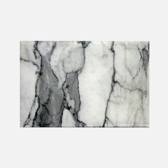 abstract chic white marble Magnets