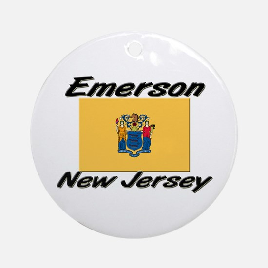 Emerson New Jersey Ornament (Round)