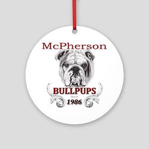 McPherson Bullpup Design 1986 Round Ornament