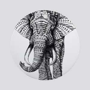 Paisley Elephant Round Ornament