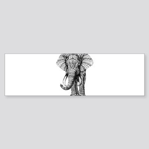 Paisley Elephant Bumper Sticker