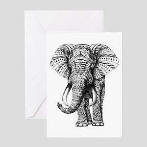 Paisley Elephant Greeting Cards