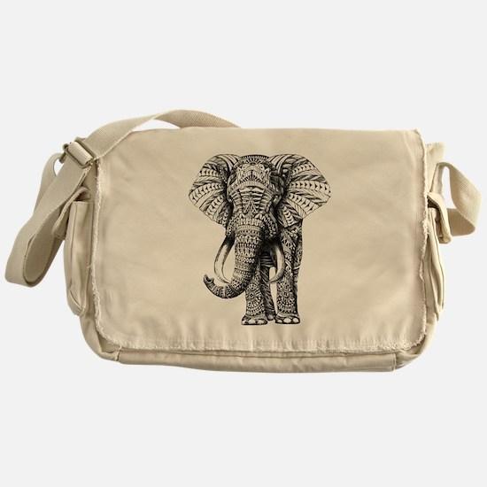 Paisley Elephant Messenger Bag