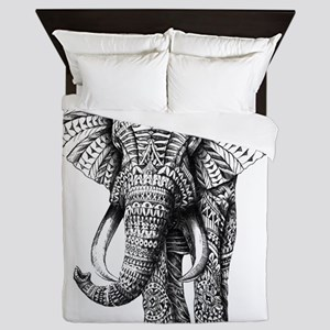 Paisley Elephant Queen Duvet