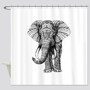 Paisley Elephant Shower Curtain