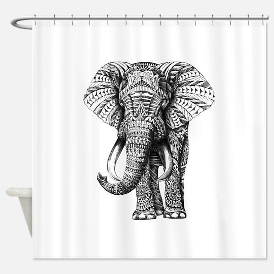 Paisley Elephant Shower Curtain