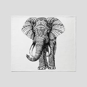Paisley Elephant Throw Blanket