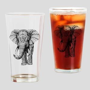 Paisley Elephant Drinking Glass