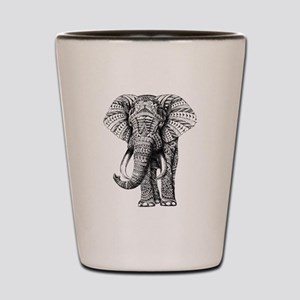 Paisley Elephant Shot Glass