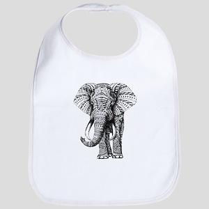 Paisley Elephant Bib