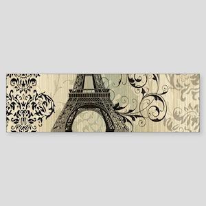 shabby chic swirls eiffel tower par Bumper Sticker