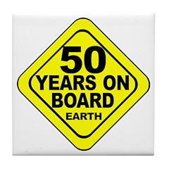 50th Birthday Tile Coaster