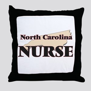 North Carolina Nurse Throw Pillow