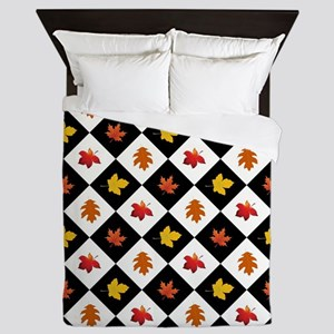 FALLING LEAVES Queen Duvet