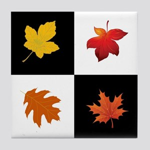 FALLING LEAVES Tile Coaster