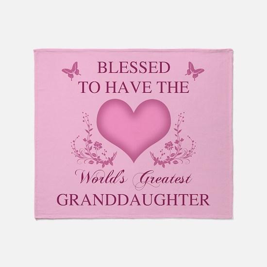 World's Greatest Granddaughter Throw Blanket