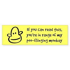 Poo-Flinging Monkey -Bumper Bumper Sticker