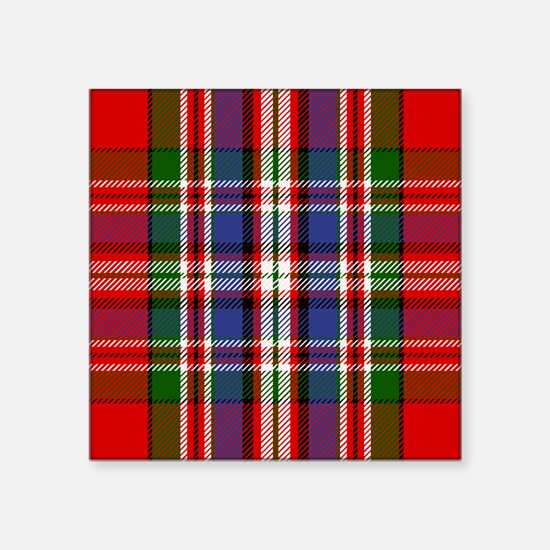 MacFarlane Red Scottish Tartan Sticker