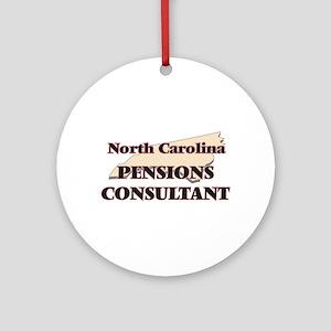 North Carolina Pensions Consultant Round Ornament