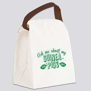 Ask me about my Guinea PIGS! Canvas Lunch Bag