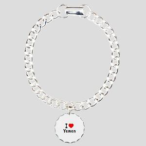 I Love Yemen Charm Bracelet, One Charm