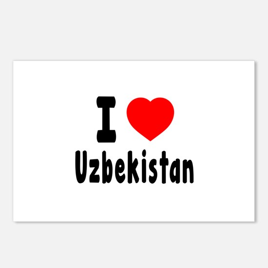 I Love Uzbekistan Postcards (Package of 8)