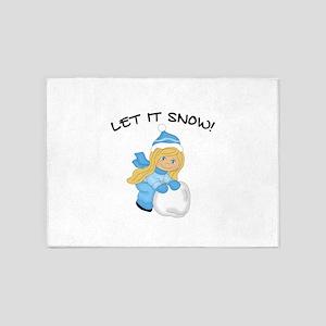 Let It Snow _Blonde 5'x7'Area Rug