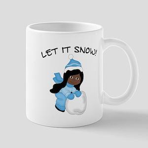 Let It Snow _AA Black Mugs