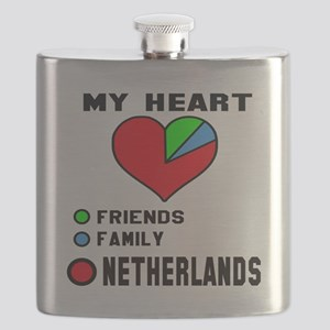 My Heart Friends, Family and Netherlands Flask