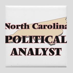 North Carolina Political Analyst Tile Coaster
