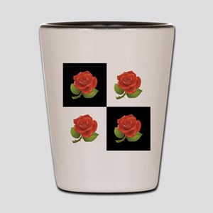 RED ROSES Shot Glass