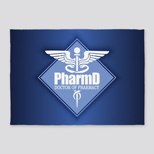 PharmD (b)(diamond) 5'x7'Area Rug