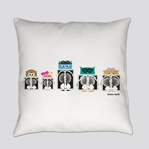 X-Ray Owls Everyday Pillow