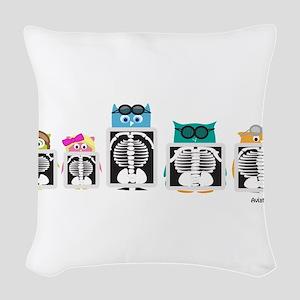 X-Ray Owls Woven Throw Pillow
