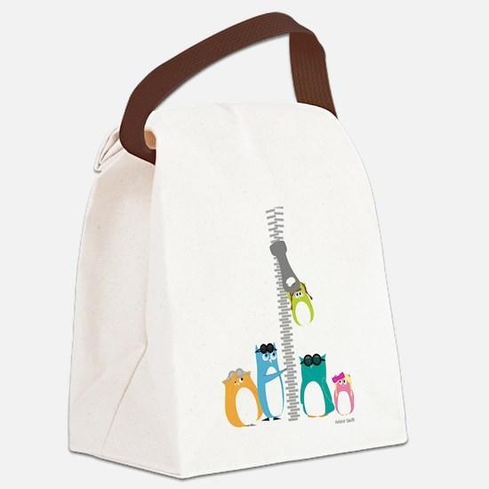 Zip Zip Owls Canvas Lunch Bag