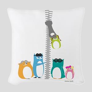 Zip Zip Owls Woven Throw Pillow