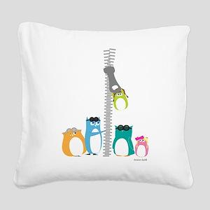Zip Zip Owls Square Canvas Pillow
