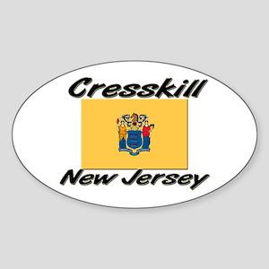 Cresskill New Jersey Oval Sticker