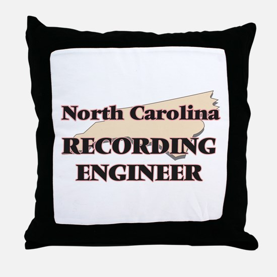 North Carolina Recording Engineer Throw Pillow