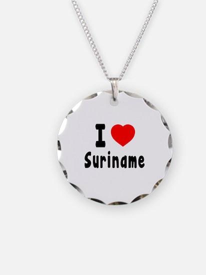 I Love Suriname Necklace