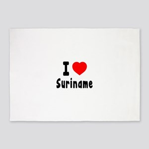 I Love Suriname 5'x7'Area Rug
