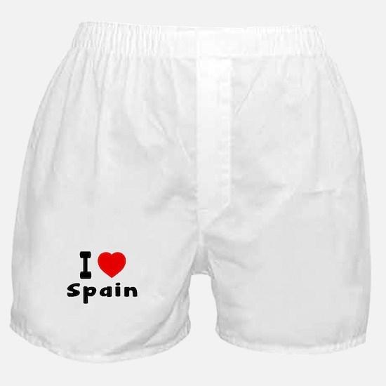 I Love Spain Boxer Shorts