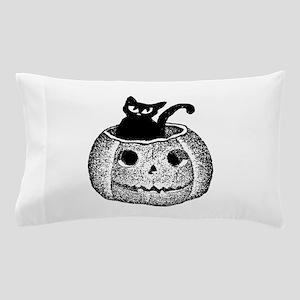 Adorable cat in pumpkin for Halloween Pillow Case
