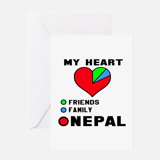 My Heart Friends, Family and Nepal Greeting Card