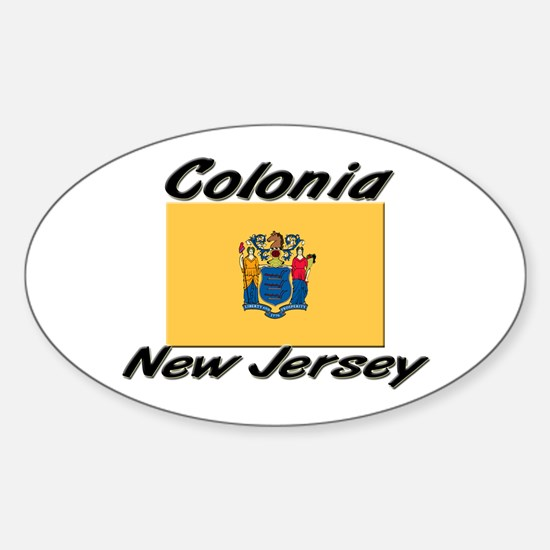 Colonia New Jersey Oval Decal