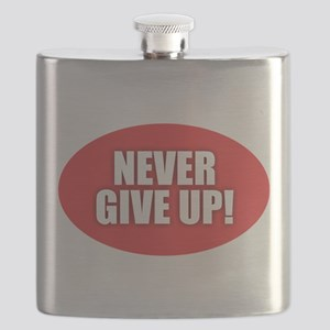 Never Give Up - Red Flask