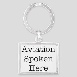 Aviation Spoken Here Landscape Keychain