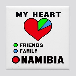 My Heart Friends, Family and Namibia Tile Coaster
