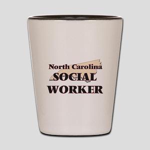 North Carolina Social Worker Shot Glass
